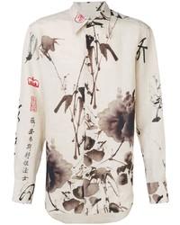 Camicia elegante stampata beige di Vivienne Westwood