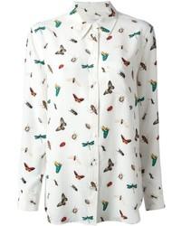 Camicia elegante stampata bianca