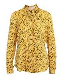 Camicia elegante stampata gialla di Michael Kors