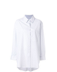 Camicia elegante stampata grigia