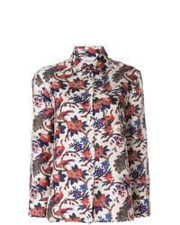 Camicia elegante stampata multicolore