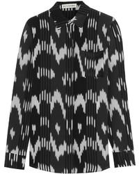 Camicia elegante stampata nera e bianca