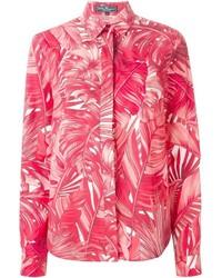 Camicia elegante stampata rossa di Salvatore Ferragamo