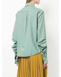 Camicia elegante verde menta di Marni