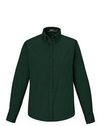 Camicia elegante verde scuro