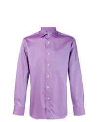 Camicia elegante viola chiaro di Canali