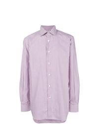 Camicia elegante viola chiaro di Kiton