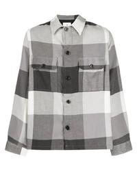 Camicia giacca a quadri grigia di PS Paul Smith