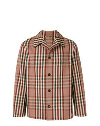 Camicia giacca a quadri marrone chiaro di TOMORROWLAND
