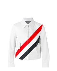 Camicia giacca a righe orizzontali grigia di Thom Browne