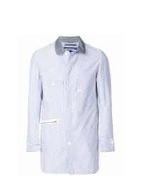 Camicia giacca a righe verticali azzurra