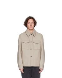 Camicia giacca beige di AMI Alexandre Mattiussi