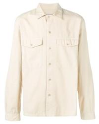 Camicia giacca beige di Ami Paris