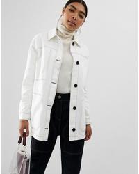 Camicia giacca bianca di ASOS DESIGN