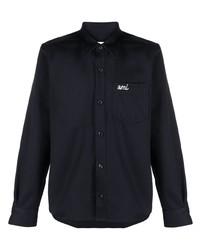 Camicia giacca blu scuro di Ami Paris