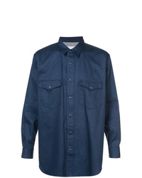 Camicia giacca blu scuro di Julien David