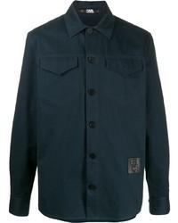 Camicia giacca blu scuro di Karl Lagerfeld