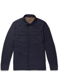 Camicia giacca blu scuro di Loro Piana