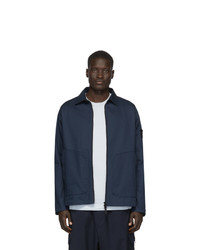 Camicia giacca blu scuro di Stone Island