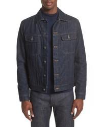 Camicia giacca di jeans blu scuro
