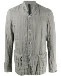 Camicia giacca di lino grigia di Poème Bohémien