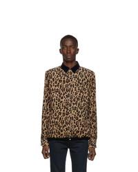 Camicia giacca di velluto a coste marrone chiaro