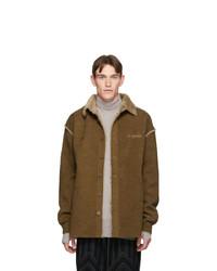 Camicia giacca di velluto a coste marrone