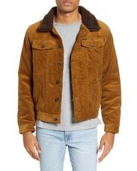 Camicia giacca di velluto a coste terracotta