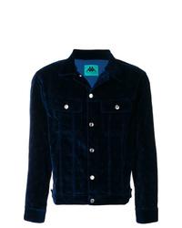 Camicia giacca di velluto blu scuro