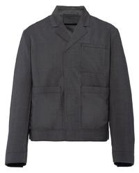 Camicia giacca grigio scuro di Prada