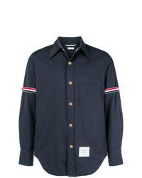 Camicia giacca in nylon blu scuro