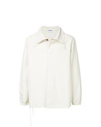 Camicia giacca leggera beige di Jil Sander