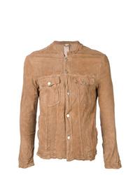 Camicia giacca marrone chiaro di Giorgio Brato