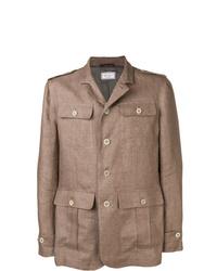 Camicia giacca marrone
