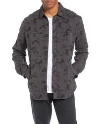 Camicia giacca mimetica grigio scuro