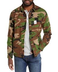 Camicia giacca mimetica verde oliva