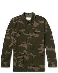 Camicia giacca mimetica verde oliva di Officine Generale