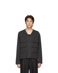 Camicia giacca nera di Lemaire