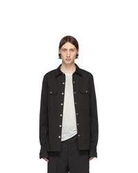 Camicia giacca nera di Rick Owens