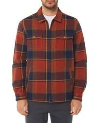 Camicia giacca scozzese arancione