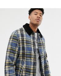 Camicia giacca scozzese blu