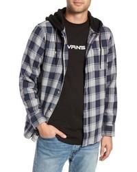 Camicia giacca scozzese grigia