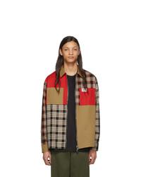 Camicia giacca scozzese marrone chiaro di Burberry