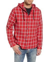Camicia giacca scozzese rossa