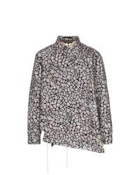 Camicia giacca stampata grigia di Comme Des Garcons Homme Plus