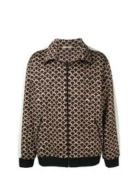 Camicia giacca stampata marrone