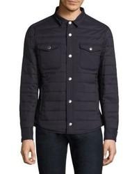 Camicia giacca trapuntata blu scuro