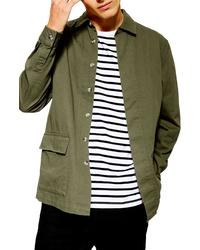 Camicia giacca verde oliva