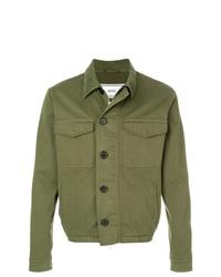 Camicia giacca verde oliva di AMI Alexandre Mattiussi