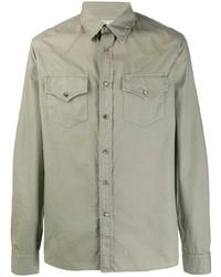 Camicia giacca verde oliva di Brunello Cucinelli
